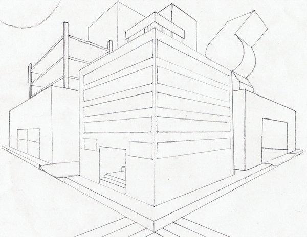 600x464 2 Point Perspective City Block By Sophomoreatscripps