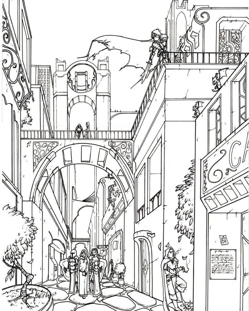 800x998 4 Point Perspective City