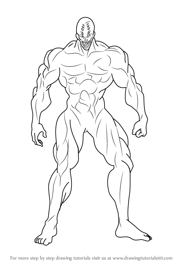 596x843 Learn How To Draw Melzalgald From One Punch Man (One Punch Man