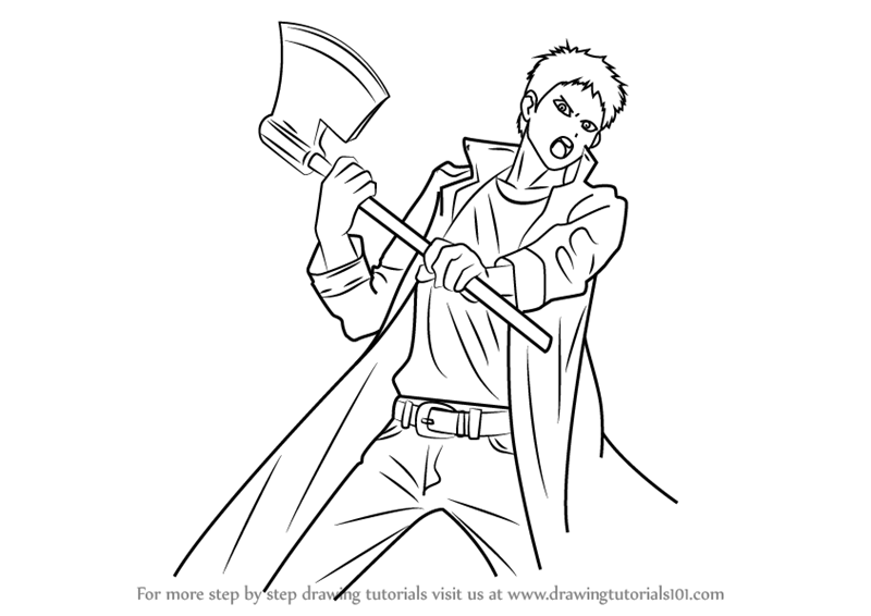 800x566 Learn How To Draw Zombieman From One Punch Man (One Punch Man