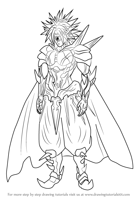 596x843 Learn How To Draw Boros From One Punch Man (One Punch Man) Step By