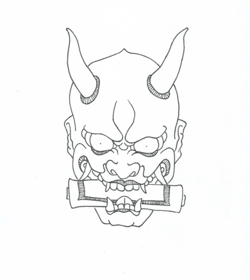 oni mask drawing at getdrawingscom free for personal