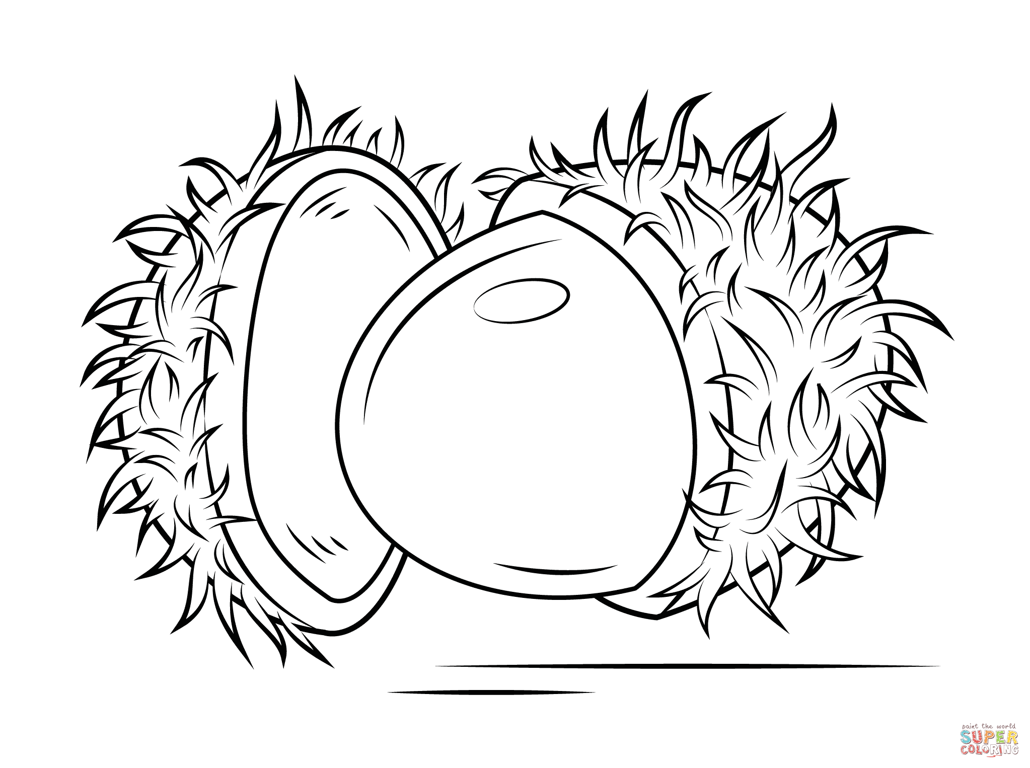 2046x1526 Open Rambutan Coloring Page Free Printable Coloring Pages