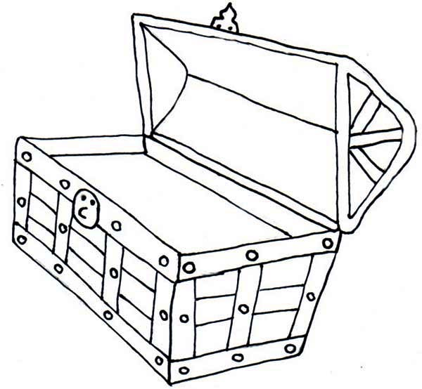 600x554 Open Treasure Chest Coloring Page Kiddos! Treasure