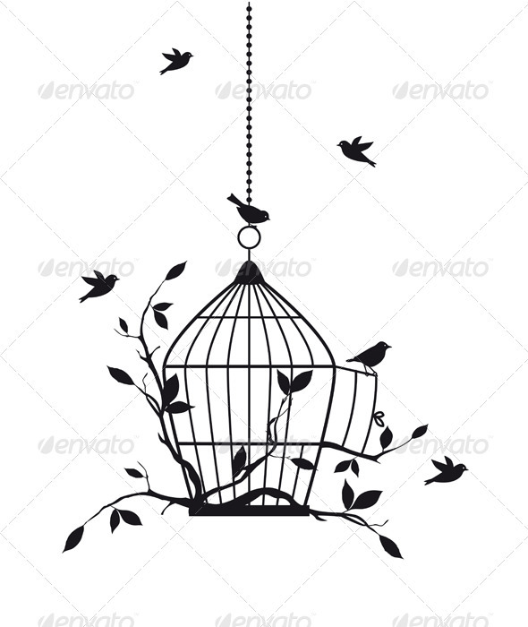 590x700 Free Birds, Vector Bird Cage Tattoos, Cage Tattoos And Tattoo