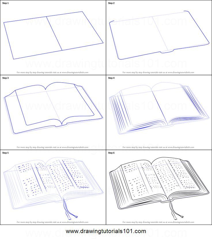 736x829 How To Draw An Open Book In 6 Easy Steps! Art Open