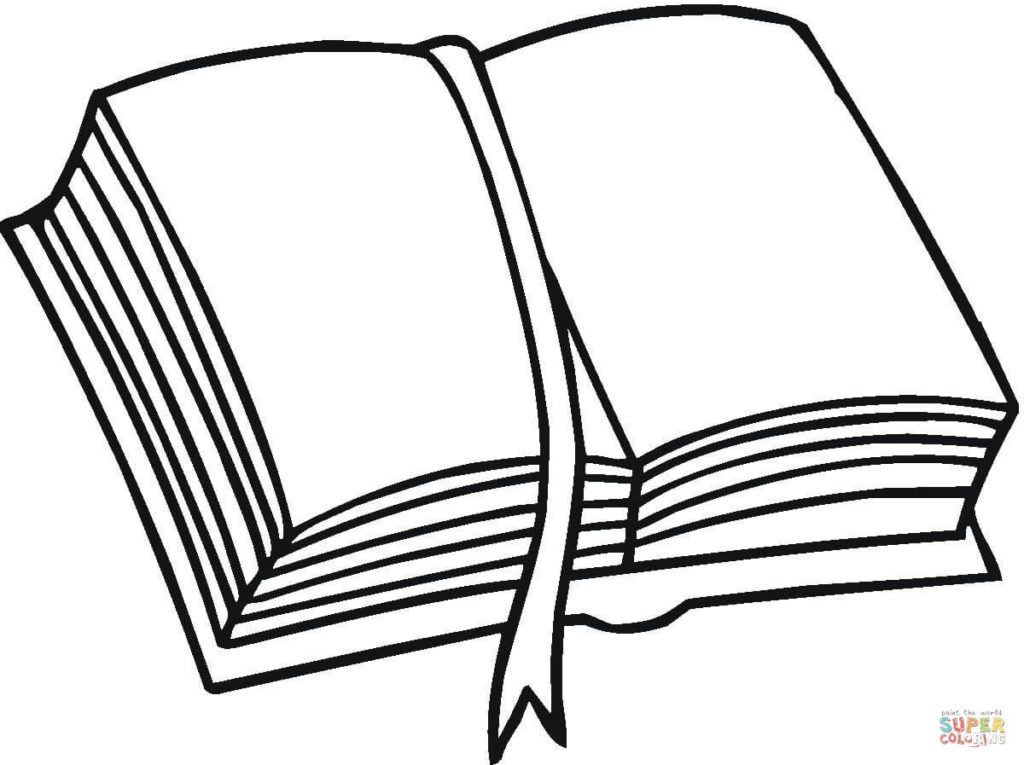1024x765 Open Book Coloring Page Free Printable Coloring Pages Book