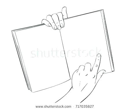 450x380 Open Book Coloring Page An Open Book Coloring Page Blank Open Book