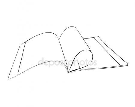 450x359 Sketch Of Open Book Stock Vector Beatwalk