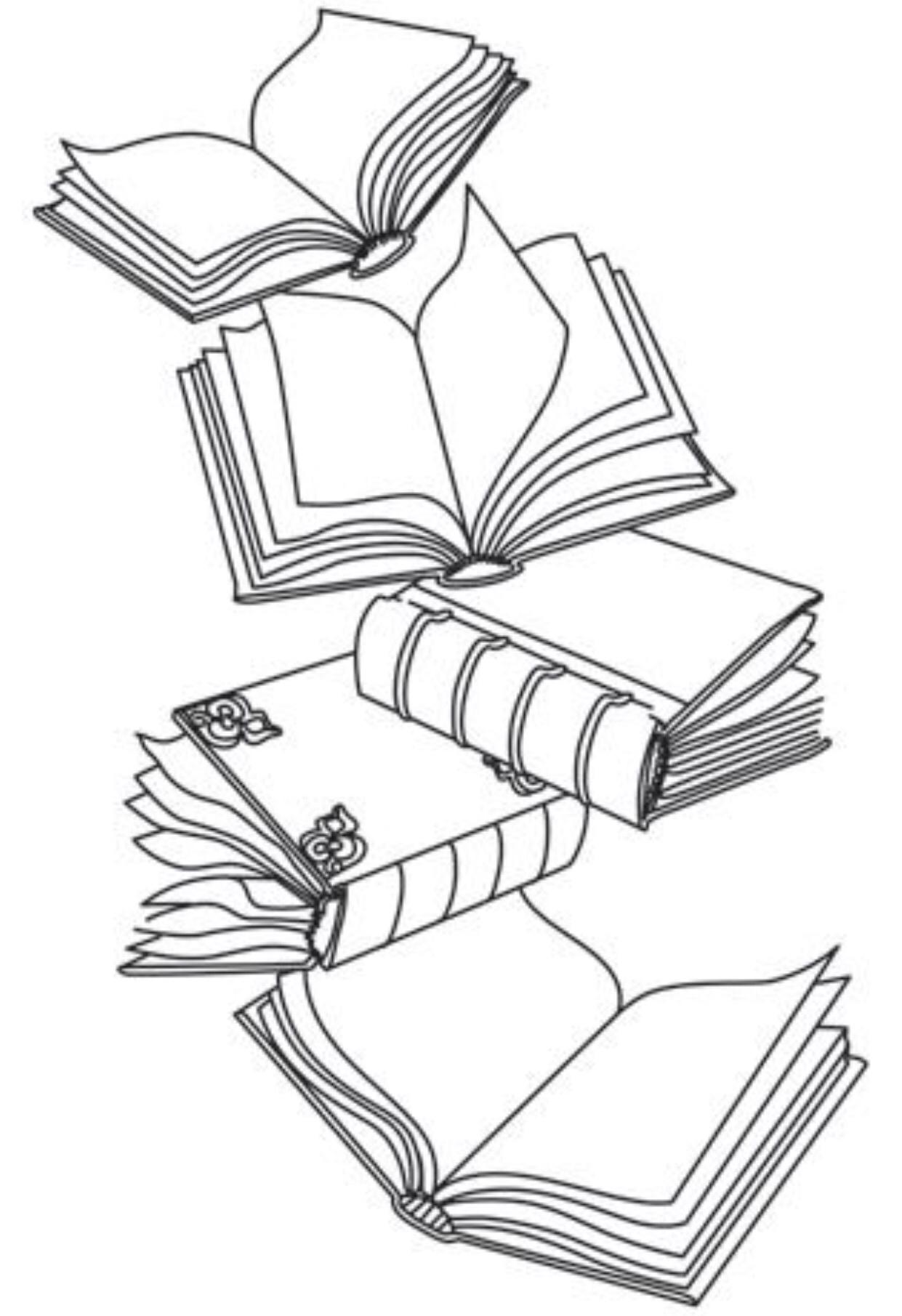1241x1811 Cascading Books Tattoos Tattoo
