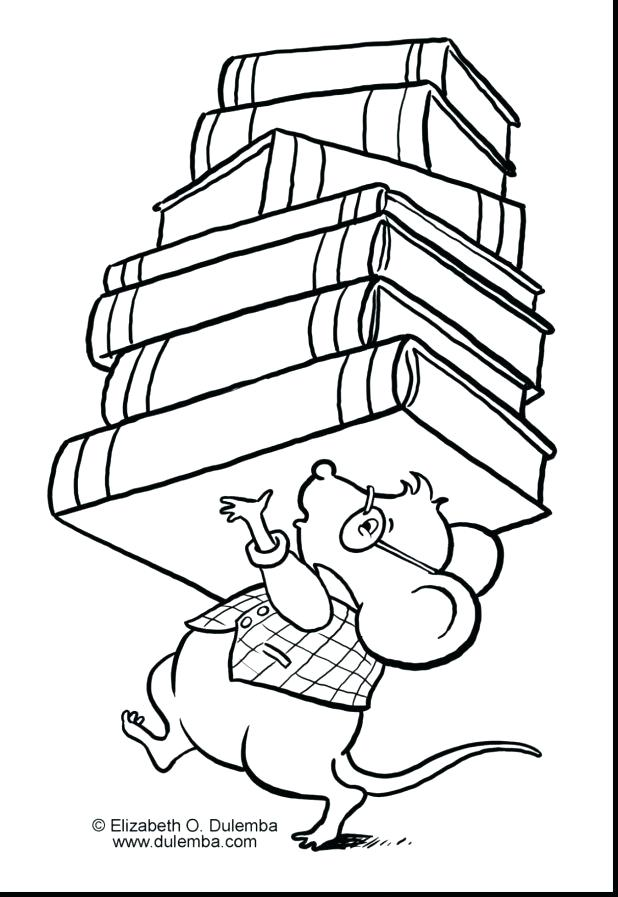 618x897 Library Mouse Coloring Page 885
