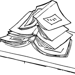 300x300 A Girl With An Open Book Coloring Page Coloring Sun