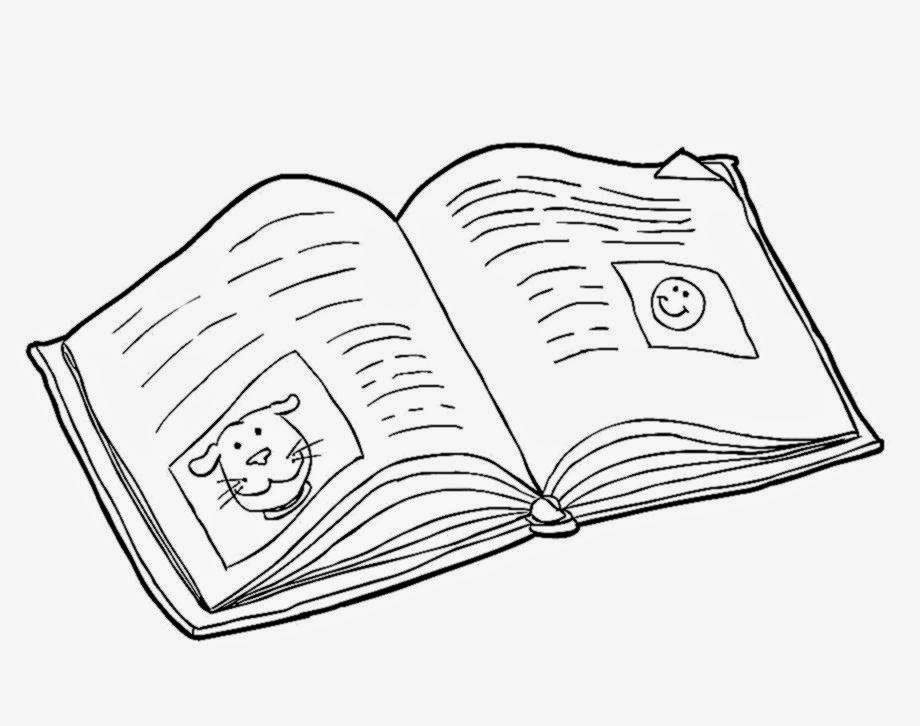 920x726 Printable Open Book Coloring Pages