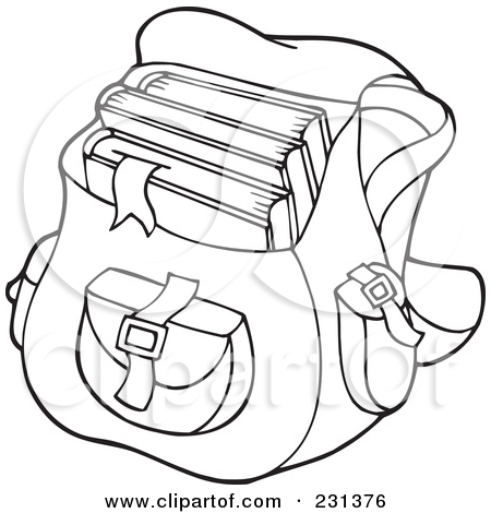 450x470 And White Open Bag Clipart