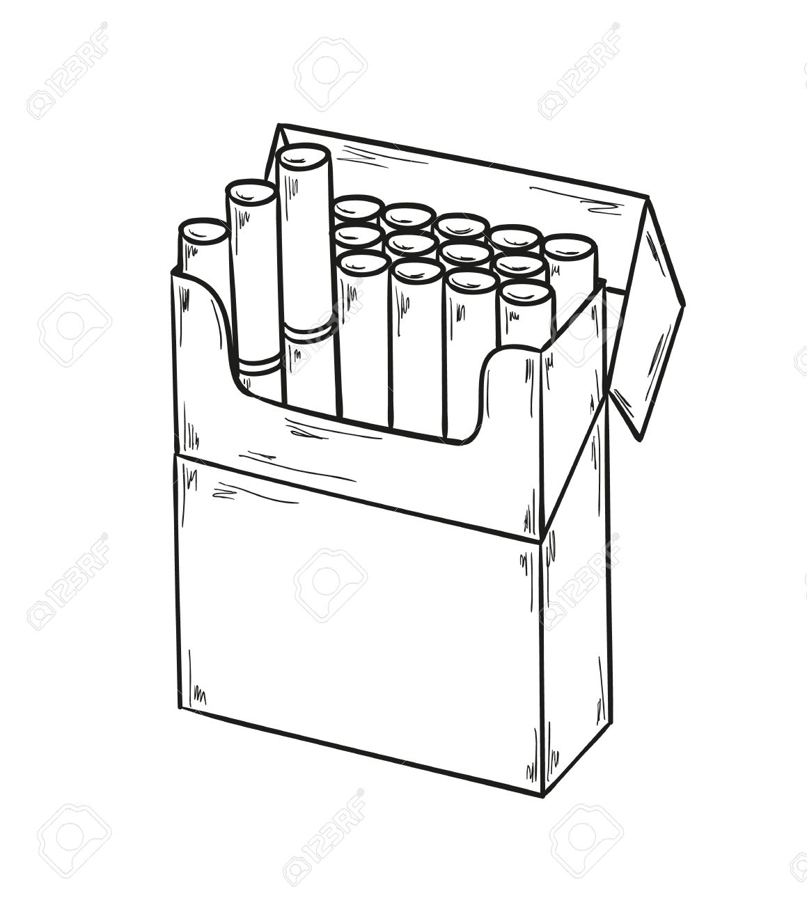 1159x1300 Cigarette Pack Drawing Cigarette Packet Drawing