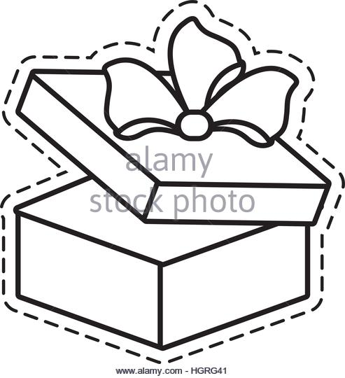 493x540 Gift Round Box Bow Open Stock Photos Amp Gift Round Box Bow Open