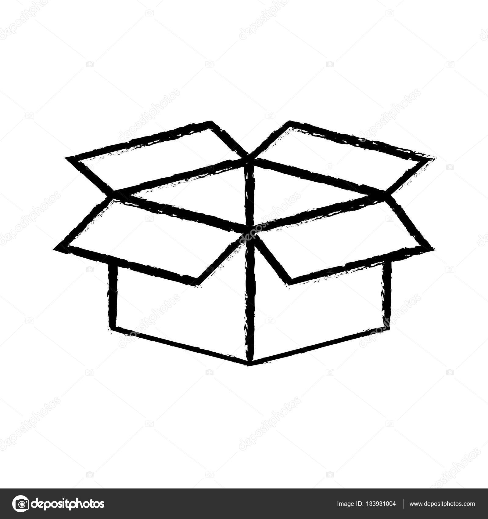 1600x1700 Open Box Symbol Stock Vector Djv