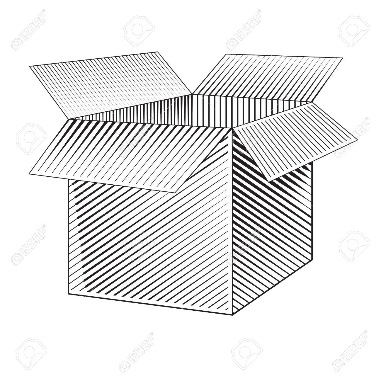 1300x1300 Box. Vector Web. Vector Blank Box. Box Packaging. Empty Cardboard
