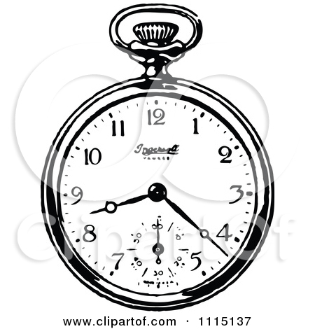 450x470 Pocket Watch Clipart Drawing