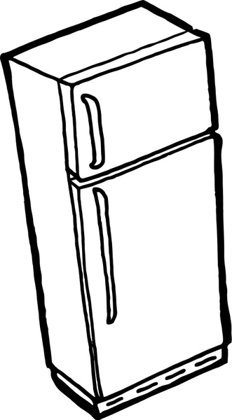 331x600 Fridge Free Vector In Open Office Drawing Svg ( Svg ) Vector