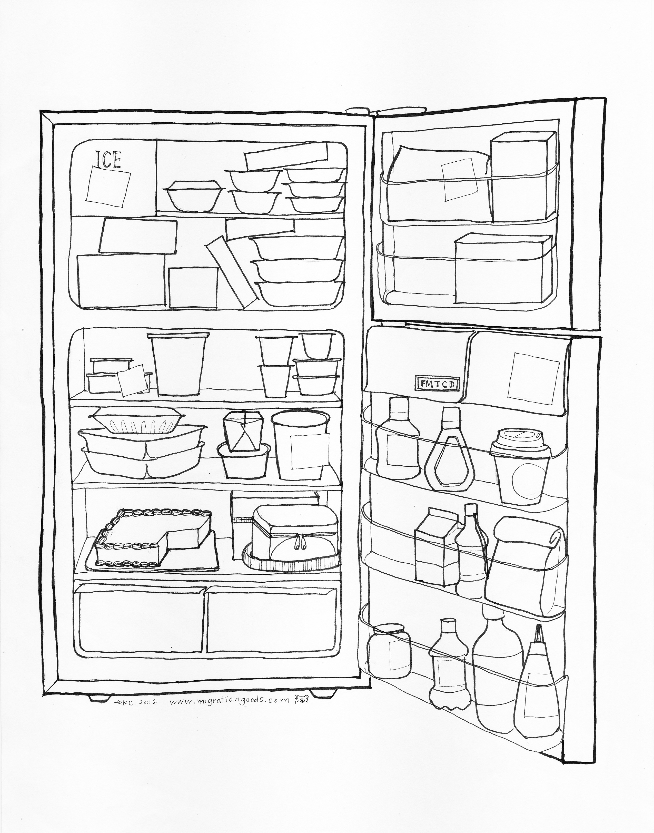 Open Fridge Drawing at GetDrawings.com | Free for personal ...