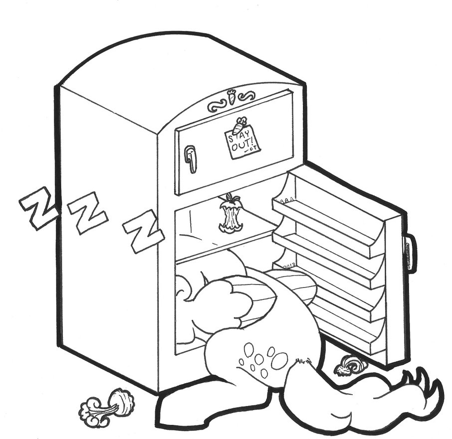 906x881 Sleepy Little Fridge Cleaner By Abronyaccount