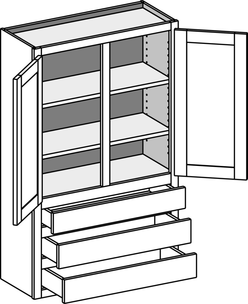 835x1024 Wall Cabinets