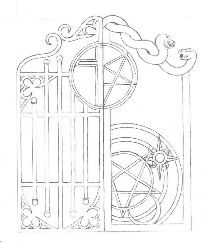 Open Gate Drawing At Free For Personal Use Opener Aleko Ac2400 Wiring Diagram 813x982 Gates That
