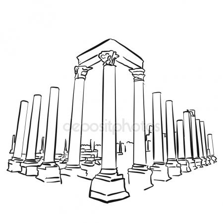 450x450 Hadrian's Gate In Old City Of Antalya, Turkey. Stock Vector
