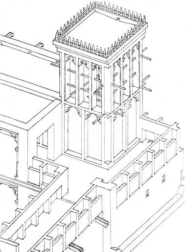 380x514 Isometric Drawing Of The Wind Tower Complex In 1983 Courtesy