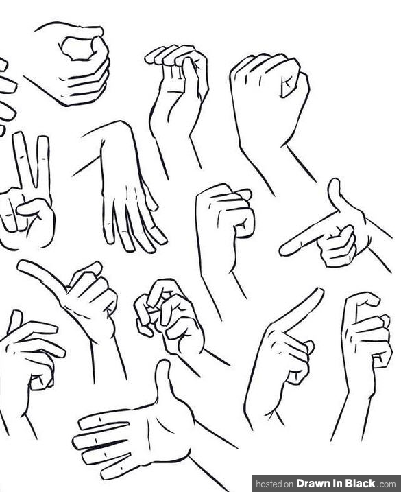 585x717 How To Draw Hands 35 Tutorials, How To'S, Step By Steps, Videos