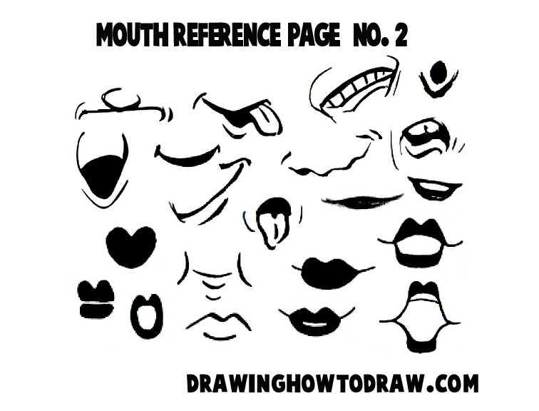 756x576 Drawing Cartoon Amp Illustrated Mouths Amp Lips Reference Sheets