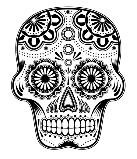450x520 How To Create A Detailed Vector Sugar Skull Illustration