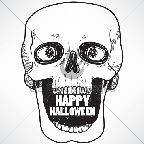 500x500 Laughing Skull Gl Stock Images