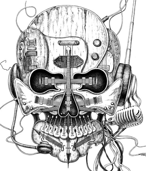 600x701 Punk Rocker For T Shirt Design By Eddie Yau Illustrated By Ken
