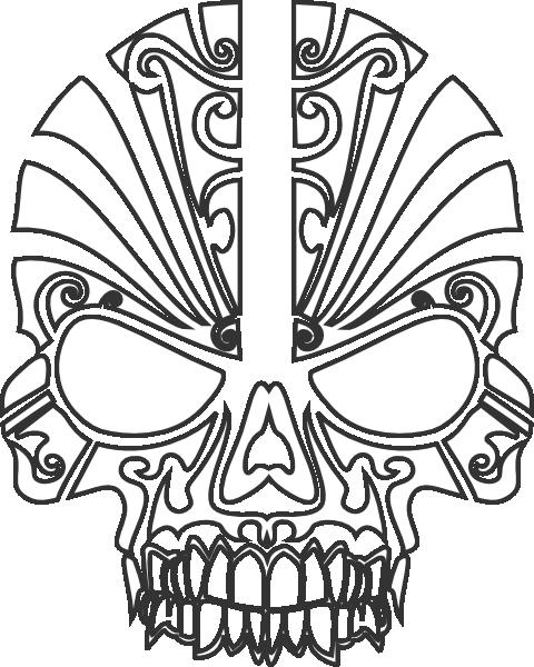 480x600 Skull Clip Art