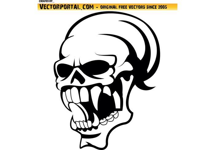 700x490 Skull Profile Vector