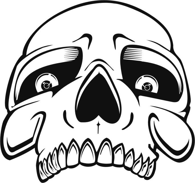 684x640 Skull Stencils