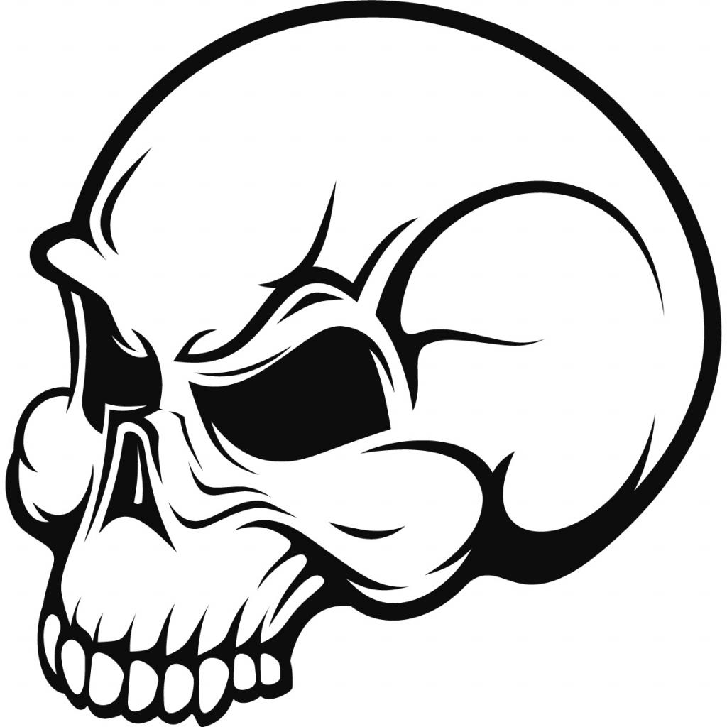 1024x1024 Cartoon Skull Drawing