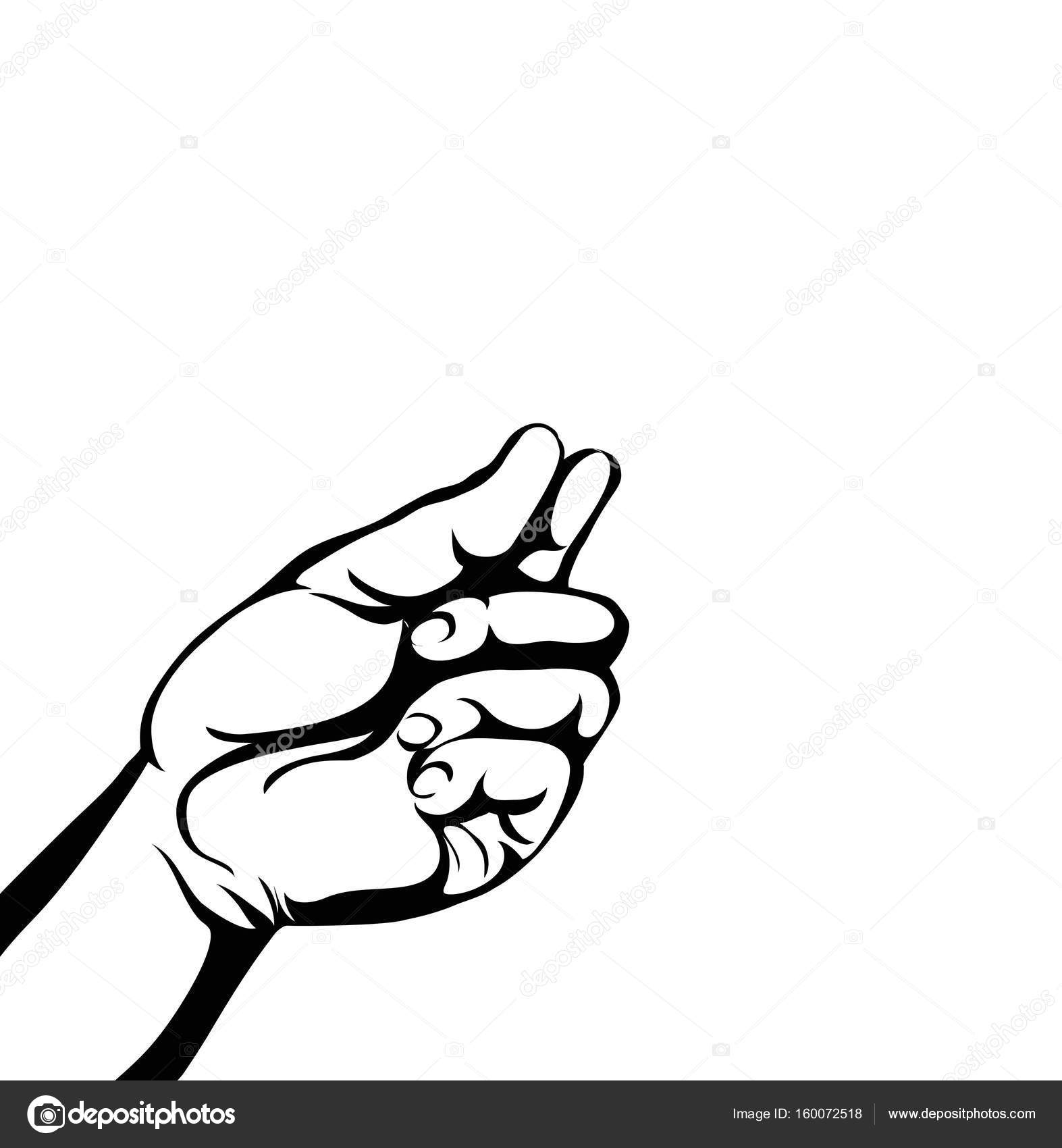 1573x1700 Gesture Open Palms.hand Gives Or Receives. Contour Graphic Stock