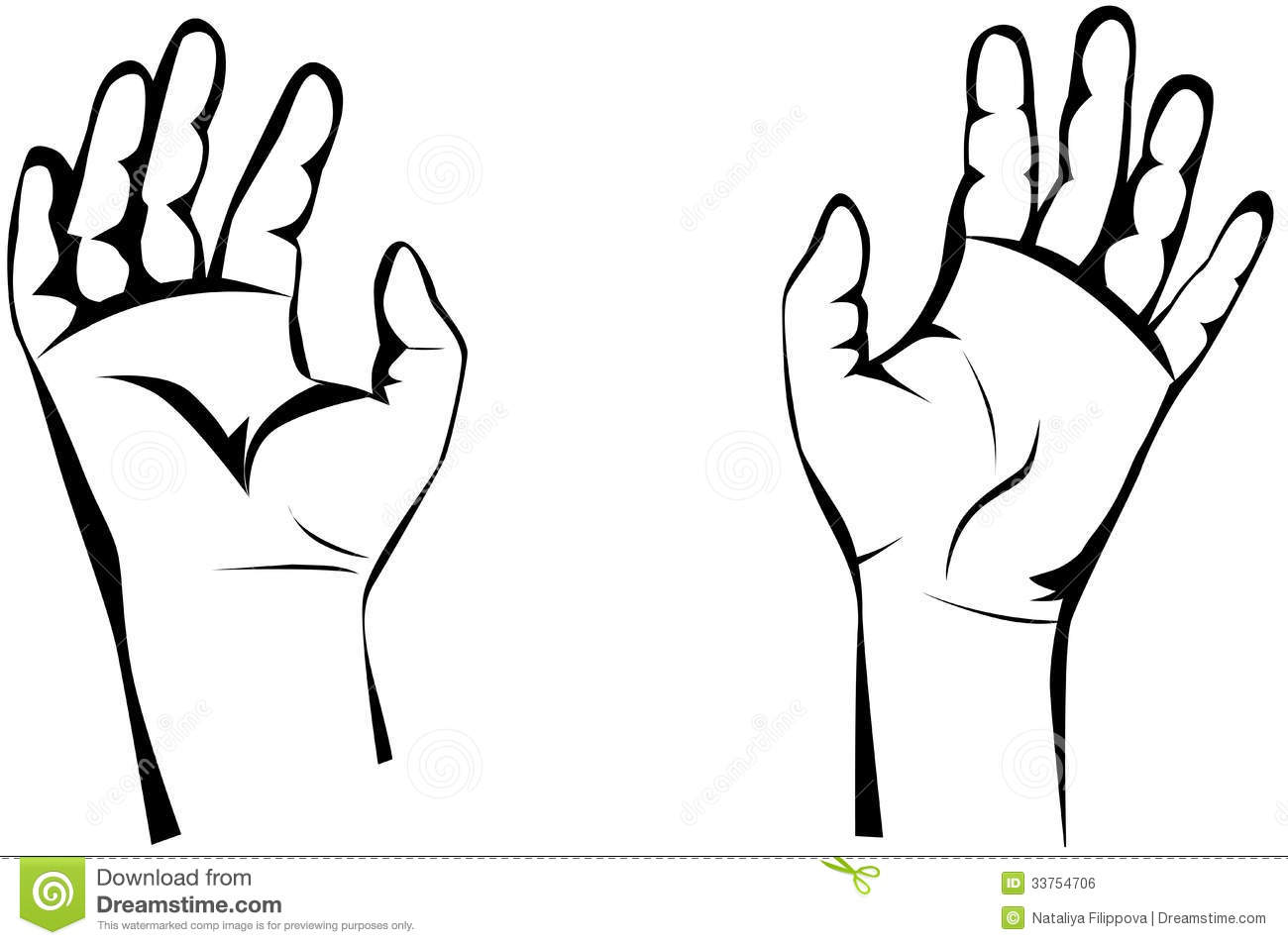 1300x954 Hand Clipart Black And White