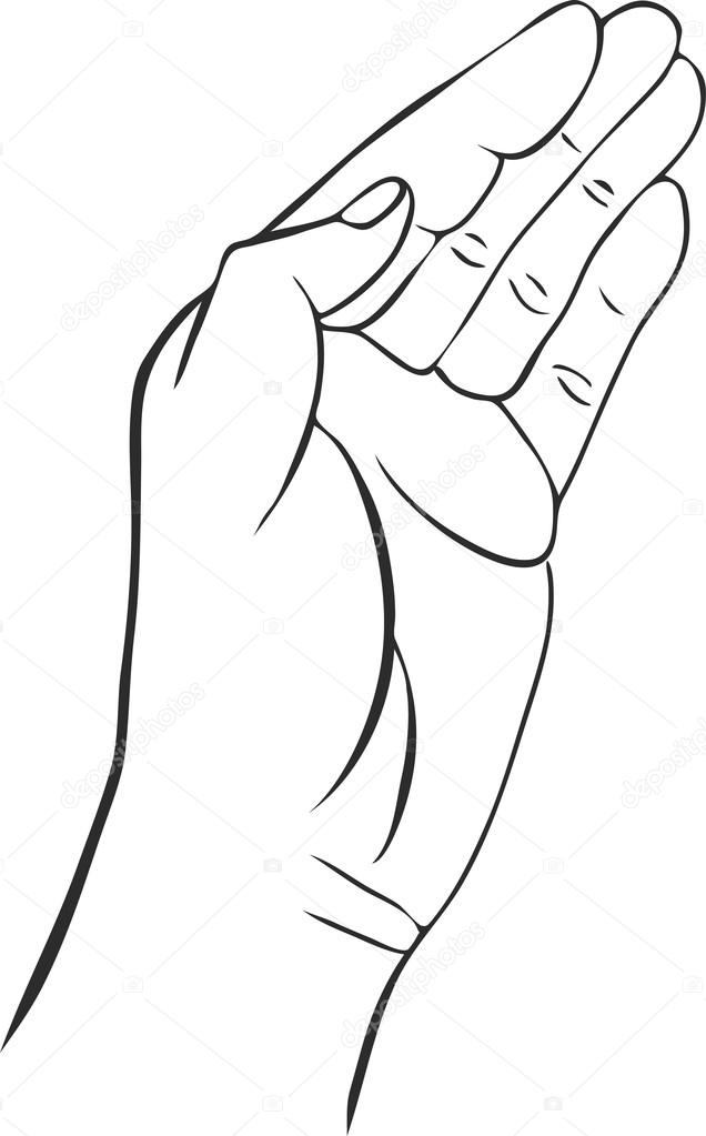 636x1023 Hands With Open Palm Stock Vector Cat Arch Angel
