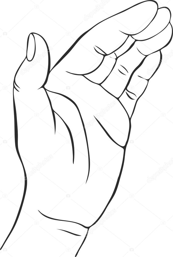 689x1023 Hands With Open Palm Stock Vector Cat Arch Angel