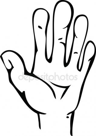 317x450 Line Drawing Human Hand Stock Vector Cat Arch Angel