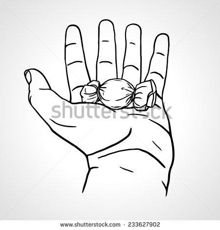 450x470 Drawn Finger Open Hand