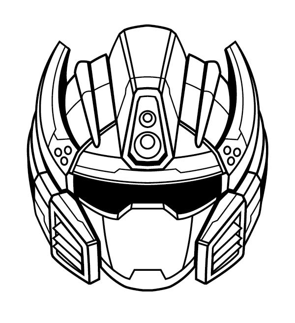 600x656 Create A Futuristic Robot Helmet In A Line Art Style In Adobe