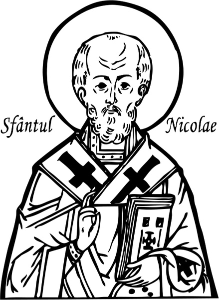 439x600 Saint Nicholas Free Vector In Open Office Drawing Svg ( Svg