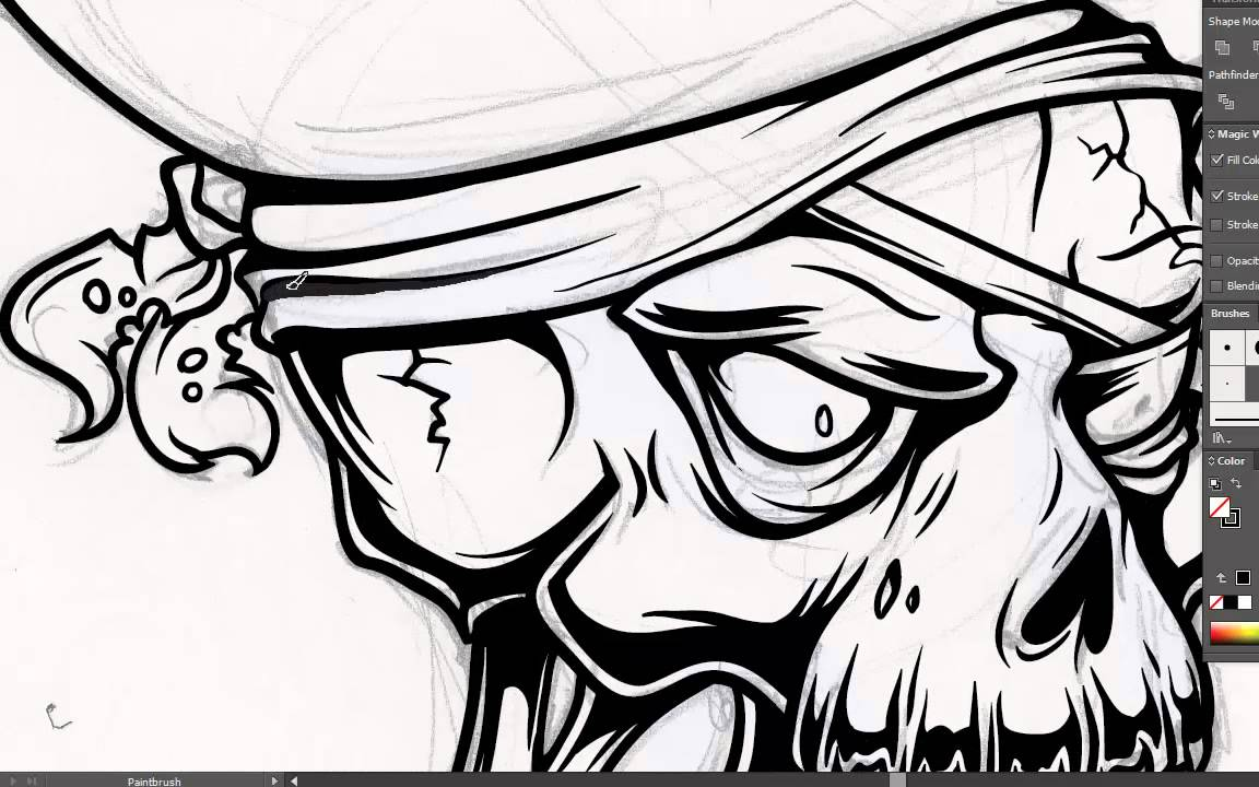 1152x720 Adobe Illustrator Tutorial How To Draw A Vector Pirate Skull