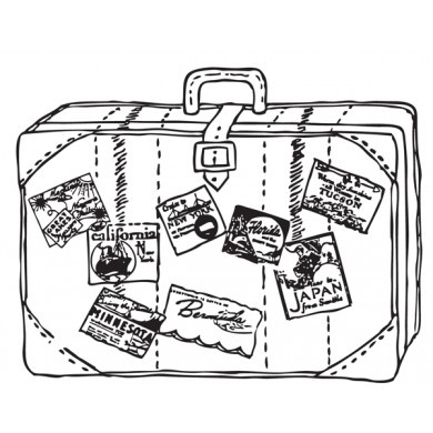 Open Suitcase Drawing