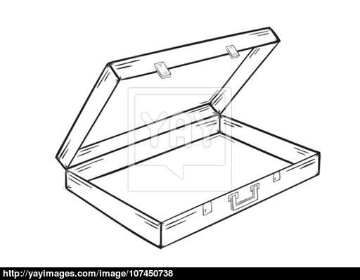 512x398 Open Empty Suitcase Vector